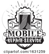 Black And White Mobile Repair Service Design