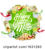 Happy Cinco De Mayo Greeting And Food