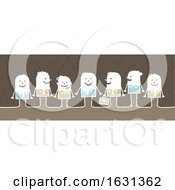 Poster, Art Print Of White Stick People Business Team