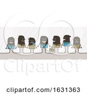 Poster, Art Print Of Black Stick People Business Team