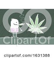 Poster, Art Print Of High White Stick Business Man Smoking A Marijuana Joint