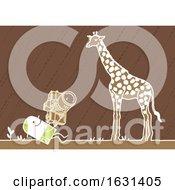 White Stick Man Taking Pictures Of A Giraffe On A Safari