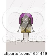 Poster, Art Print Of Happy Black Stick Woman Wearing Sunglasses