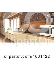 Render Of 3D Contemporary Kitchen