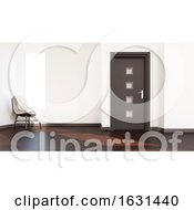 3D Contemporary Empty Room And Chair