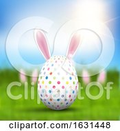 Poster, Art Print Of Easter Egg With Bunny Ears