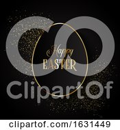 Poster, Art Print Of Elegant Easter Background With Egg Shape On Glitter