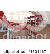 Interior View Of A Gym