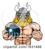 Poster, Art Print Of Viking Bowling Sports Mascot