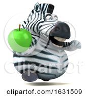3d Zebra On A White Background