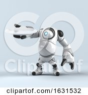 3d Cyclops Robot On A Shaded Background