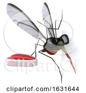 Poster, Art Print Of 3d Mosquito On A Shaded Background