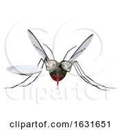 3d Mosquito On A Shaded Background