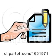 Poster, Art Print Of Hand Holding A Document