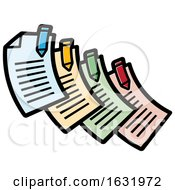 Poster, Art Print Of Colorful Documents With Pens