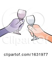Poster, Art Print Of Hands Clinking Glasses Together