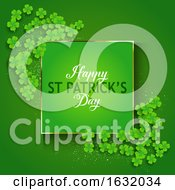 St Patricks Day Background With Shamrock by KJ Pargeter