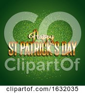 St Patricks Day Background With Gold Text