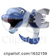 3d Dolphin On A White Background