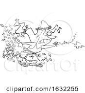 Poster, Art Print Of Cartoon Lineart Furious Mother Nature