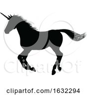 Unicorn Silhouette Horned Horse