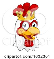 Poster, Art Print Of King Chicken Rooster Cockerel Bird Crown Cartoon