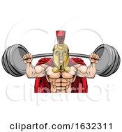 Spartan Trojan Weight Lifting Body Building Mascot