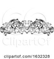 Poster, Art Print Of Filigree Vintage Pattern Scroll Leaf Laurel Motif