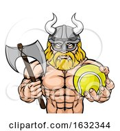 Viking Tennis Sports Mascot by AtStockIllustration