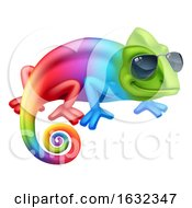 Chameleon Cool Cartoon Character In Shades Mascot