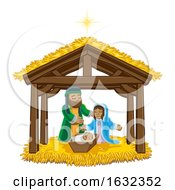 Poster, Art Print Of Nativity Scene Christmas Cartoon