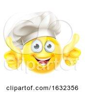 Poster, Art Print Of Emoji Chef Cook Cartoon Thumbs Up