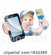 Poster, Art Print Of Painter Decorator Handyman Phone Concept
