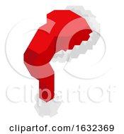 Santa Claus Hat Geometric Christmas Illustration