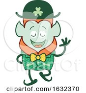 St Patricks Day Leprechaun In An Elegant Costume