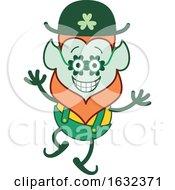 St Patricks Day Leprechaun Wearing Clover Glasses