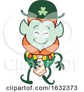 Poster, Art Print Of St Patricks Day Leprechaun Wearing A Tie