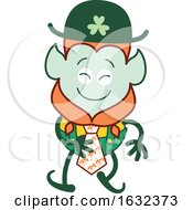 St Patricks Day Leprechaun Wearing A Tie by Zooco