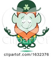 Poster, Art Print Of St Patricks Day Leprechaun Meditating