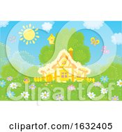 Poster, Art Print Of Cute Cottage On A Spring Day
