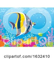 Butterflyfish Over A Coral Reef