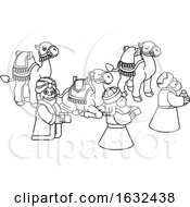 Poster, Art Print Of Wise Men Christmas Nativity Scene Cartoon
