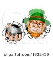 Leprechaun Golf Mascot Ripping Background