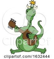 Cartoon Dragon Playing A Guitar