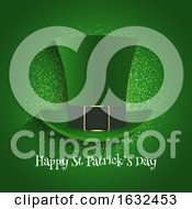 St Patricks Day Background With Top Hat And Glitter