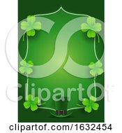 St Patricks Day Border With Shamrocks And A Leprechaun Hat