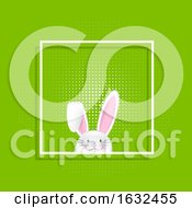 Poster, Art Print Of Easter Bunny In White Frame