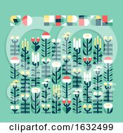Poster With Wild And Medicinal Herbs In Flat Style