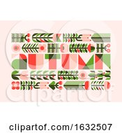 Poster, Art Print Of Autumn Poster With Wild Herbs Flowers And Berries In Flat Style