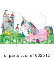 Fairy Tale Castle And Unicorn by visekart